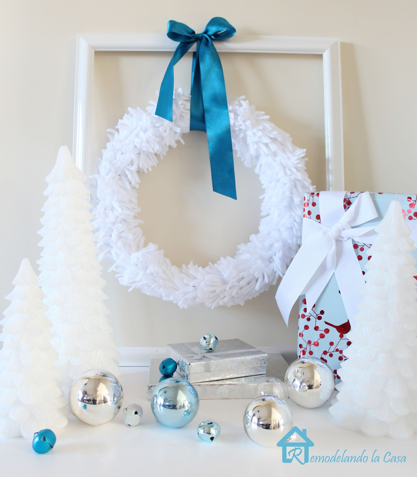 Remodelando la casa winter white wreath