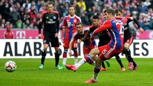 Bayern Munchen vs. Hamburger SV 8-0 Highlight Goal Bundesliga 14-02-2015