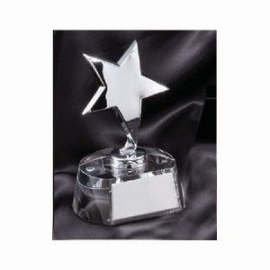 Mini Bright Star Crystal Award