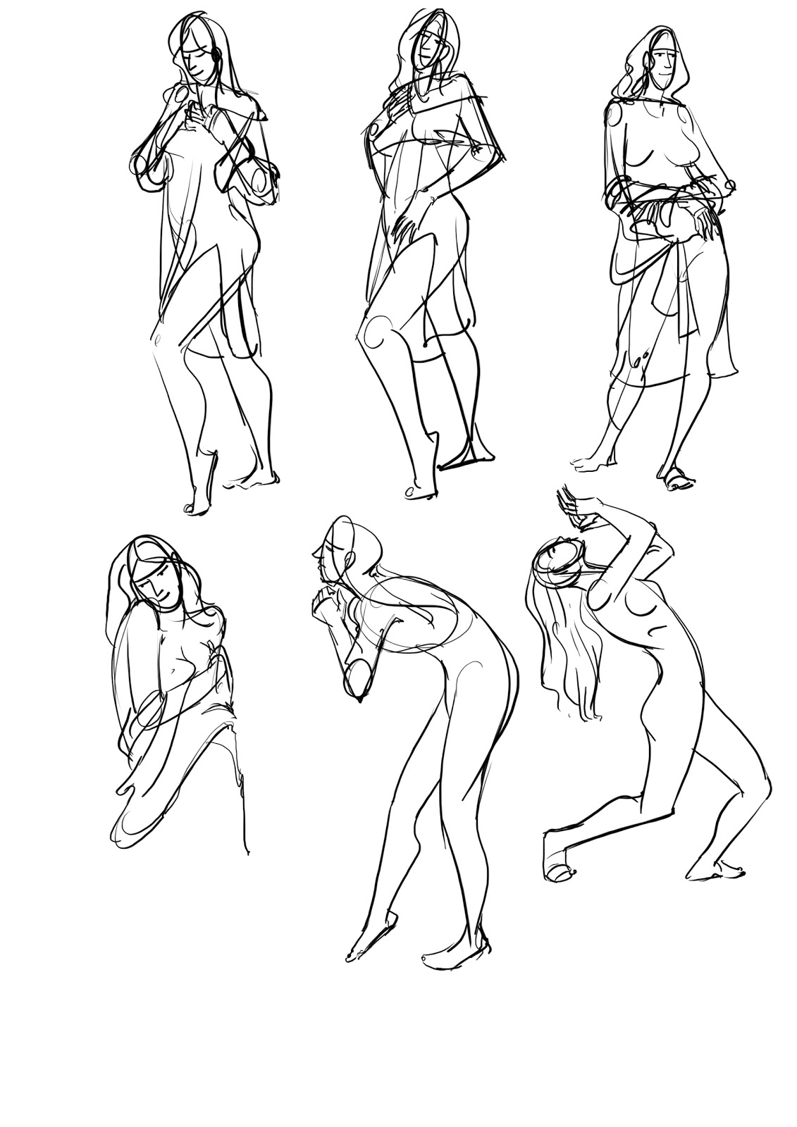 Saiprasad  Some Gesture Drawing
