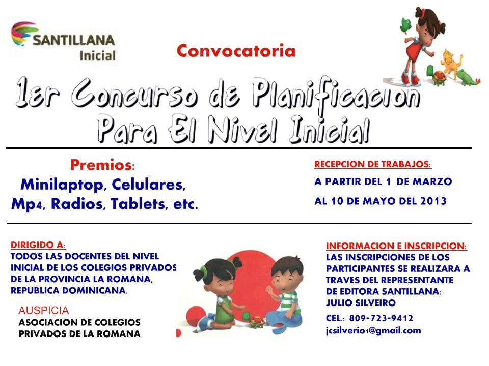 La educaci n dominicana primer concurso de planificacion for Curriculum de nivel inicial