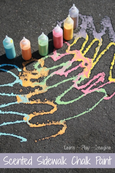 How to make scented sidewalk chalk paint