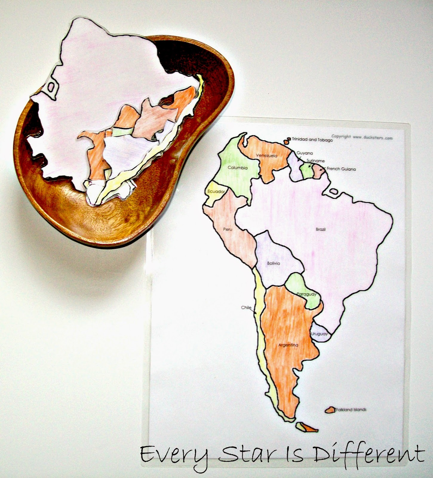 south america unit w free printables every star is different