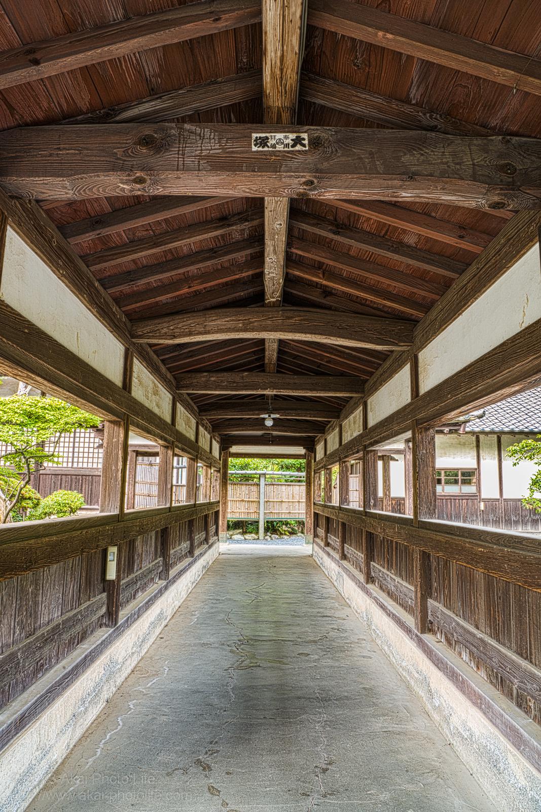 天寧寺、中雀門の回廊の写真