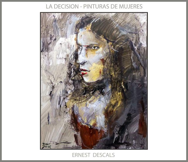 MUJERES-PINTURAS-MODELOS-DECISION-MUJER-PINTURA-CUADROS-ARTISTA-PINTOR-ERNEST DESCALS-