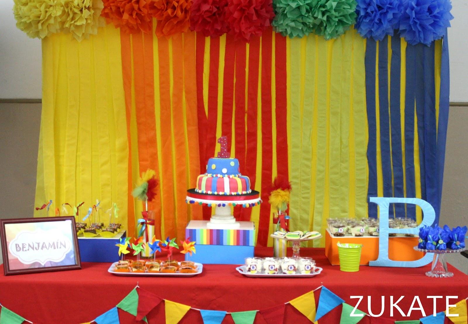 Fiesta de colores para benjam n zukate - Decoracion para foto ...