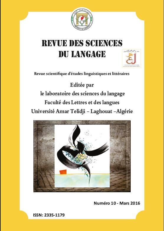 REVUE DES SCIENCES DU LANGAGE Nº 10