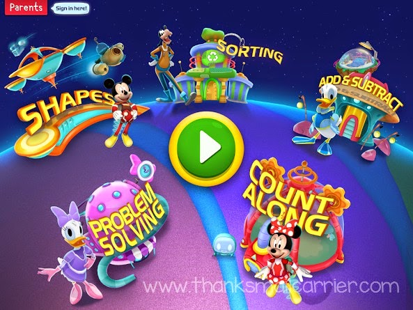 Mickey's Magical Math World app