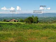 Vista de Manlleu i de la Plana de Vic des de La Bertrana