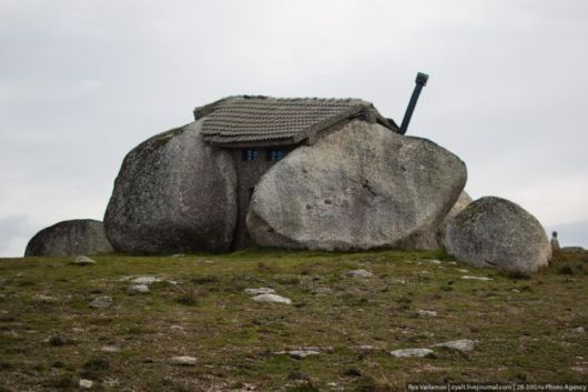 House Built Inside A Stone