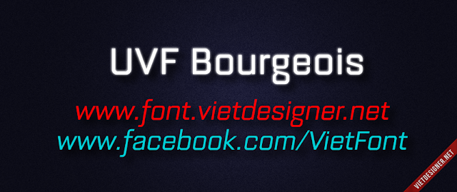 [Sans-serif] UVF Bourgeois Việt hóa