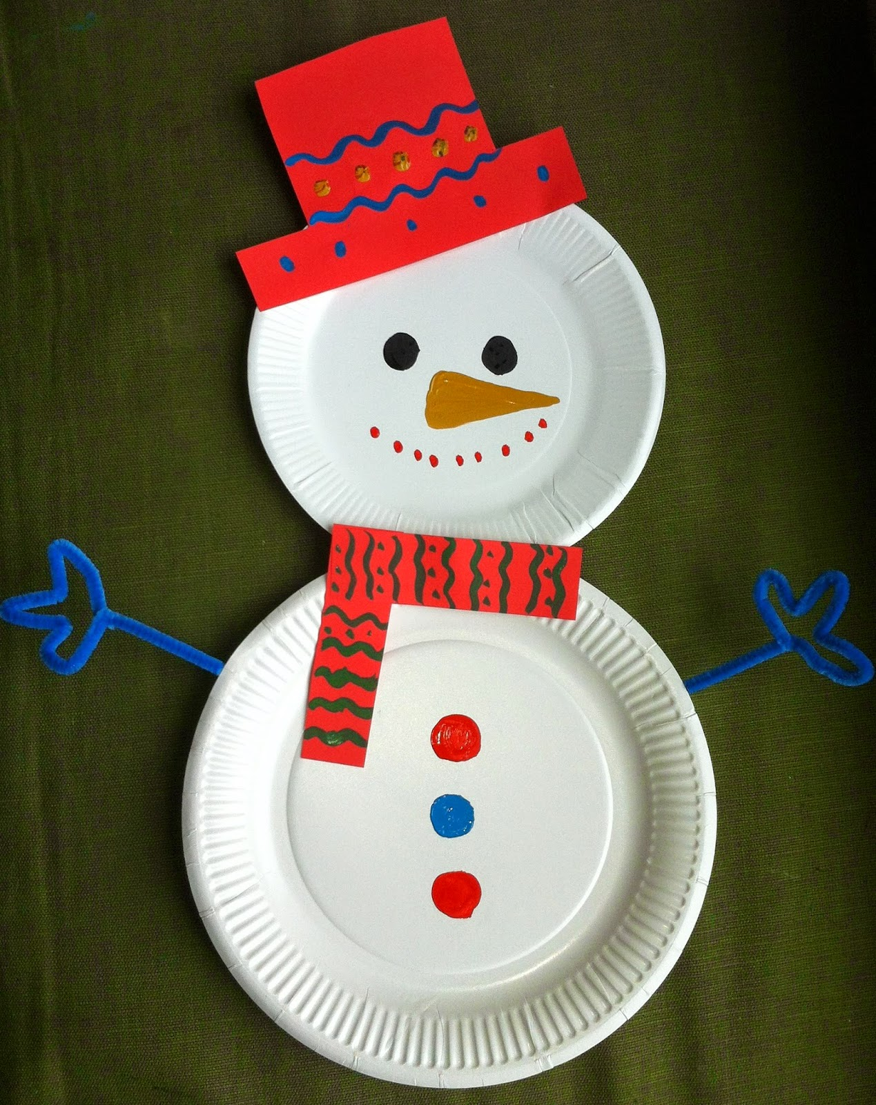 paper plate for christmas craft