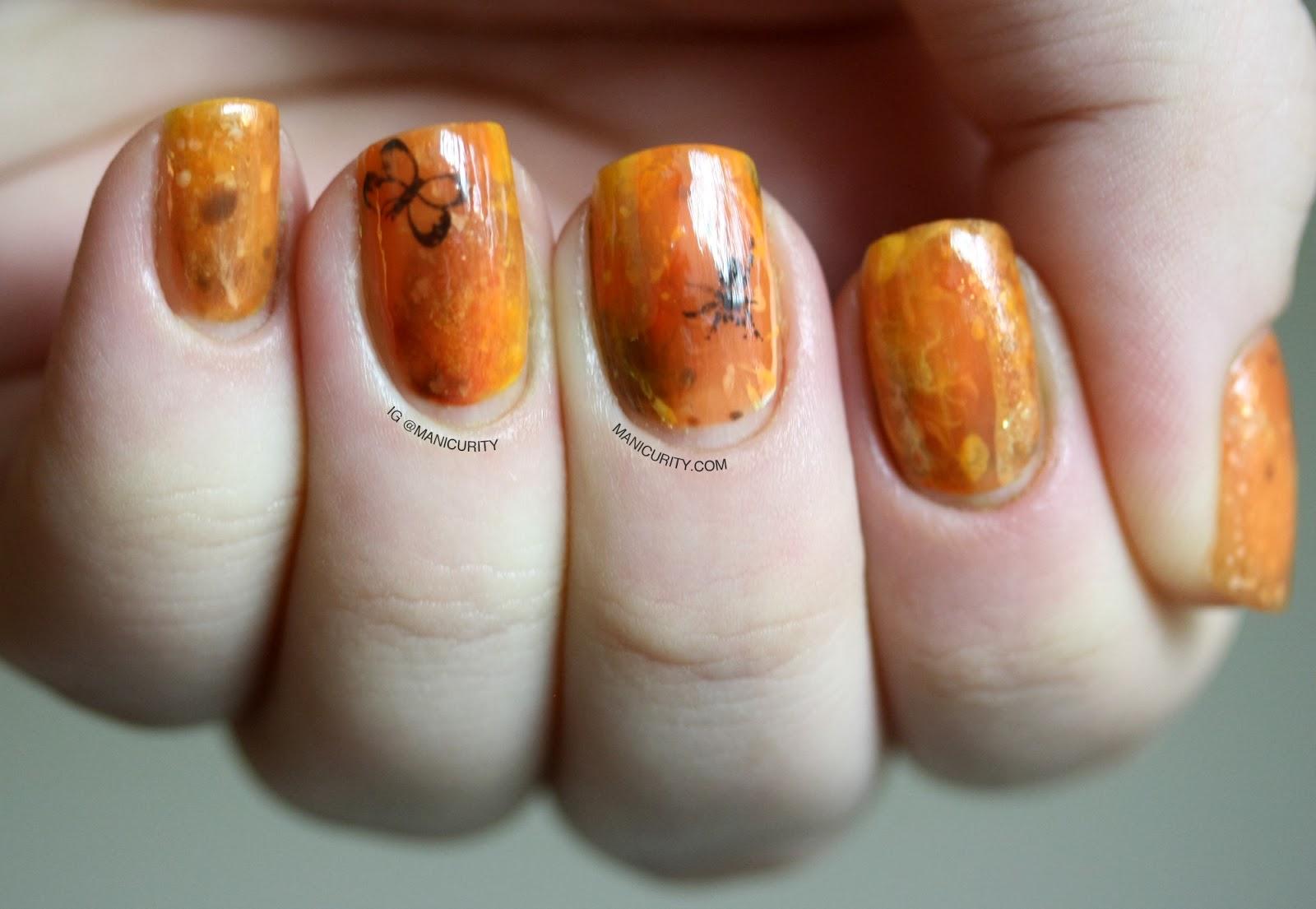Manicurity: Amber Resin Nail Art