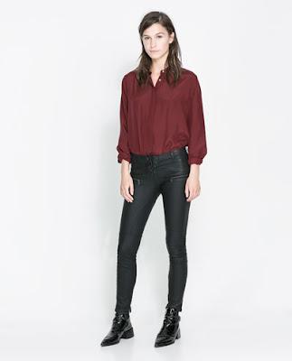 piel pantalones zara