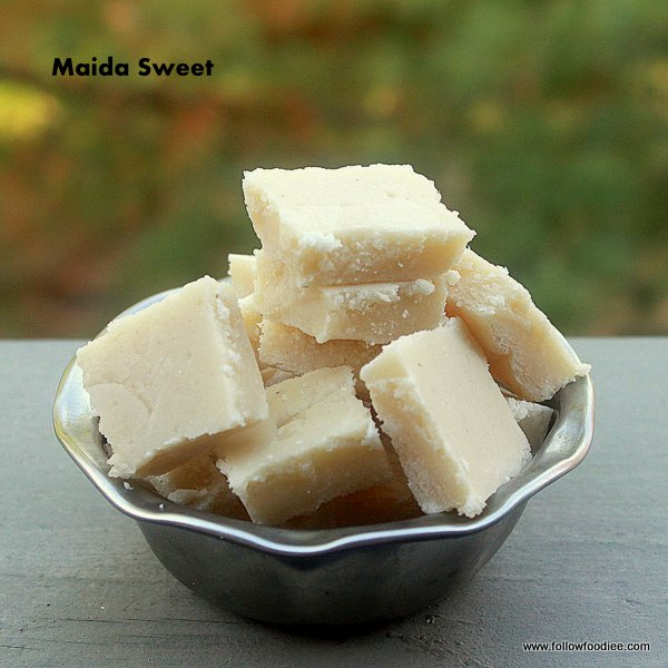 Easy Sweet made with Maida / All purpose flour
