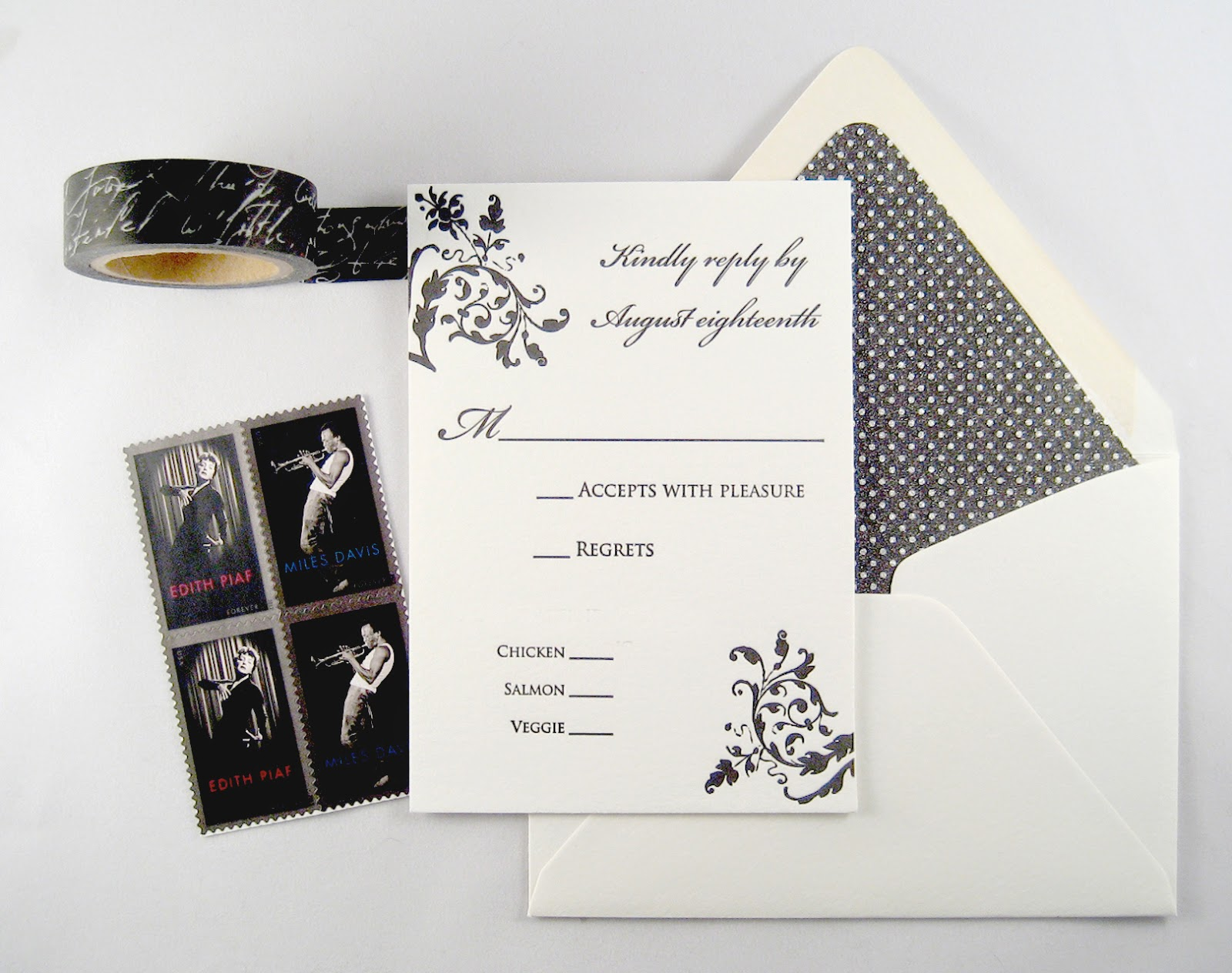 Reply card by inviting | shopinviting, from the Sophia design suite.