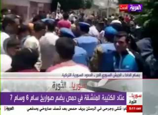تقرير العربية حول كتيبة الصواريخ المنشقة وسيطرة الجيش الحر على المدن السورية
