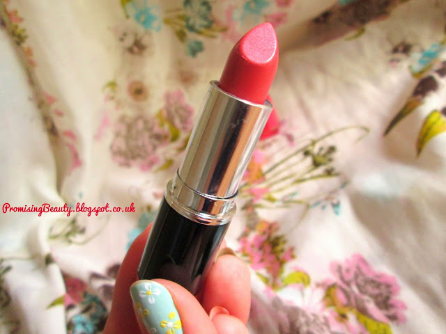 MUA makeup academy coral pink lipstick in shade 7 from Superdrug. Summer and spring makeup trends. Glossy lipstick in bright colour.