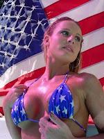 stars stripes bikini sexy USA flag