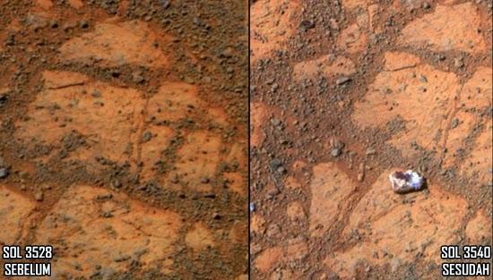 Batu 'Donat' di Planet Mars yang Tiba-tiba Muncul