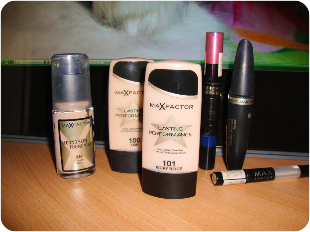 Max Factor, Second Skin Foundation, Lasting Perfomance, Masterpiece Beyond Length Mascara, False Lash Effect Mascara,Mastertouch Under Eye Concealer
