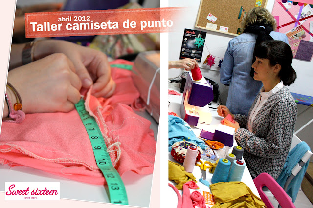 Taller Camisetas, Sweet sixteen craft store. Abril . Madrid.