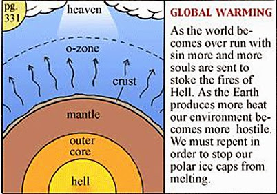 Funny Christian Global Warming Explanation Joke Picture