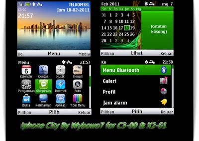 Theme Iphone City for C3-00, X2-01, Asha 302