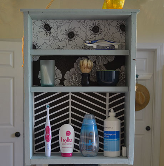 gabinete de banheiro, bathroom cabinet, gaveta reciclada, upcycling, old drawer, gaveta velha, armario pequeno