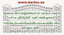 Vackra grindar, staket och kaminer