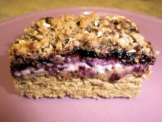 Blueberry cream cheese lemon bars crumb topping