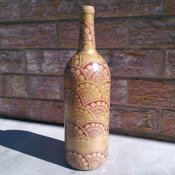 Henna Painted Bottle