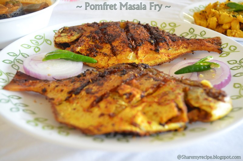 Share my recipe pomfret masala fry for What sides go with fish