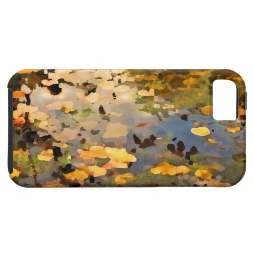 Floating Autumn Leaves Abstract iPhone 5 Cases