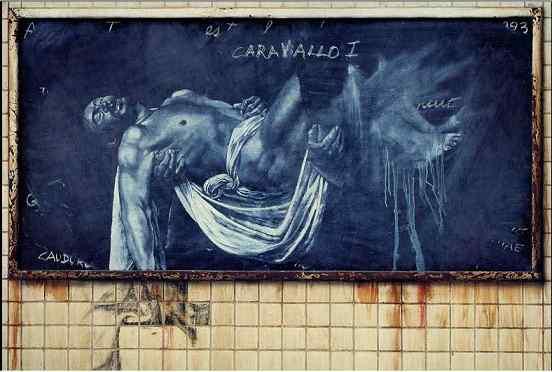 Rafael Cauduro Lección de Caravaggio