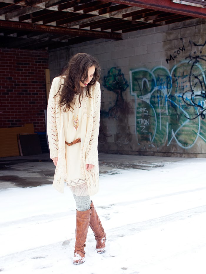 lace-long-cardigan-shift-dress