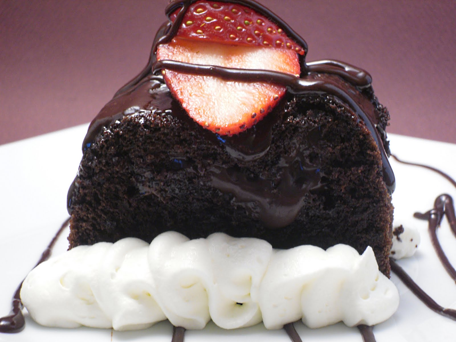 Molten Chocolate Tunnel Cake