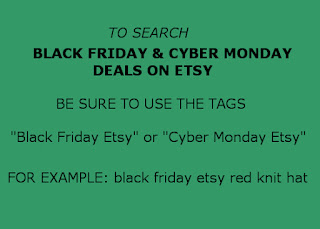 how to search blk Fri & Cyber Mon deals on Etsy