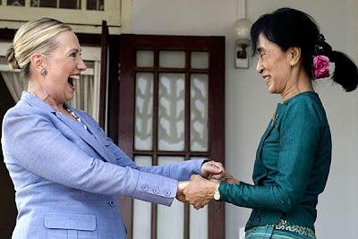 Hillary Clinton Aung San Suu Kyi