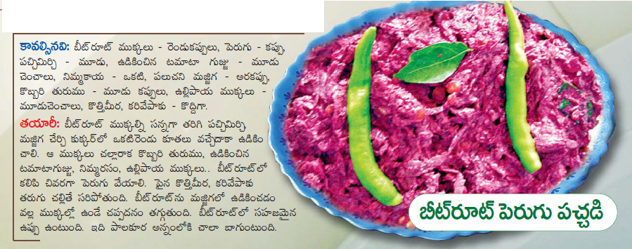 Healthy food recipes beetroot perugu pachadi recipe in telugu beetroot perugu pachadi recipe in telugu forumfinder Choice Image