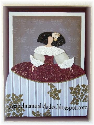 Rosabel manualidades cuadro menina con silueta - Cuadros de meninas ...