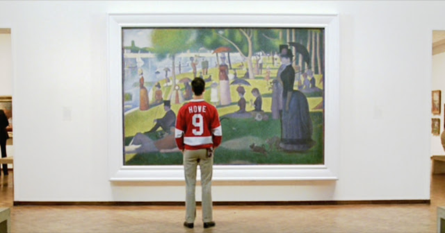 Cam looking at La Grande Jatte