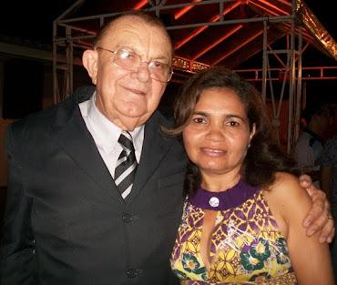 Lucia de Fatima  competente governanta do Hotel Sabino Palace, ao lado do diretor João Sabino