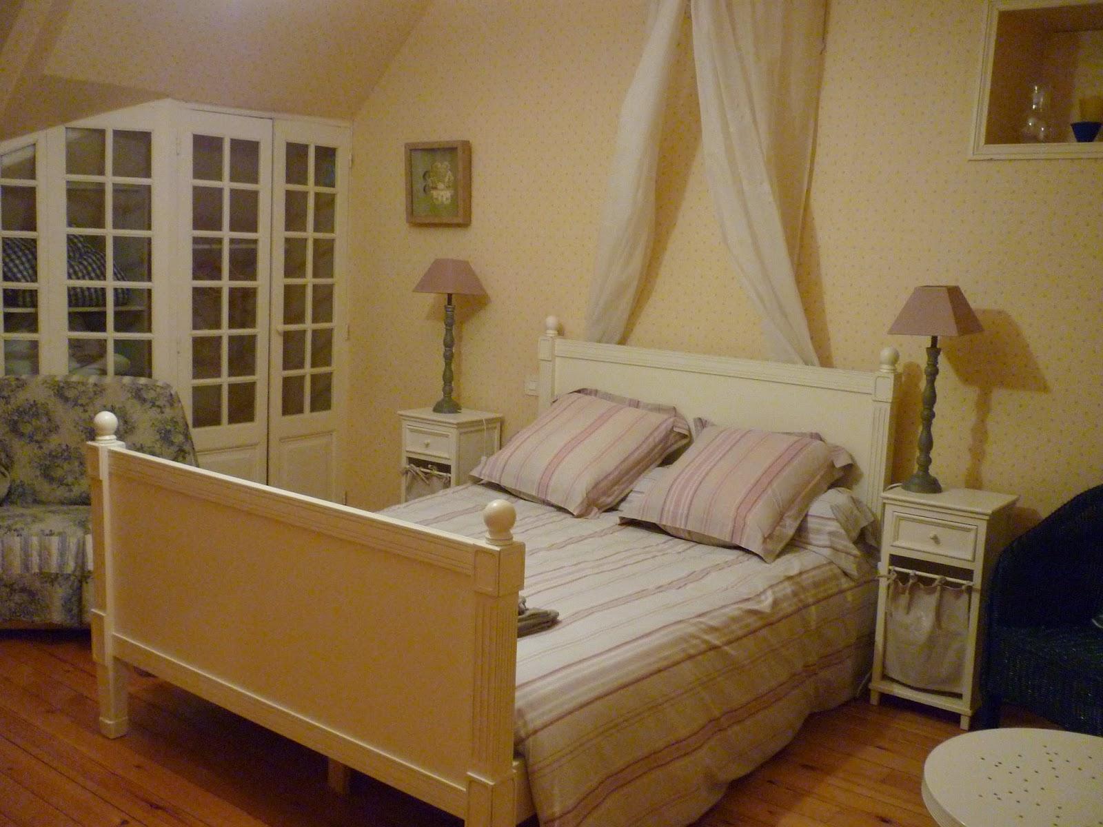 Chambre double n°3 du Manoir de Beaurepaire en Normandie