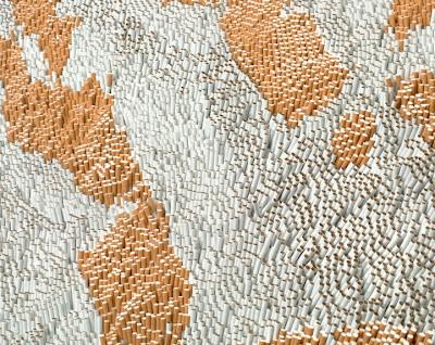 إبداع الفن التشكيلي سجادة من السجائر xubing-tobacco-rug-4
