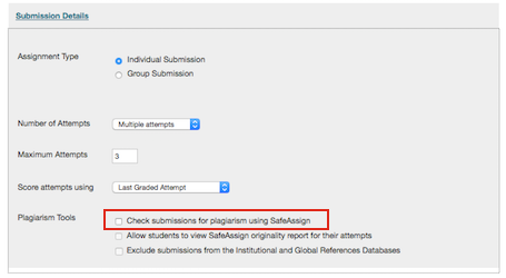 ... Assign check the box under Plagiarism tools in the assignment setup
