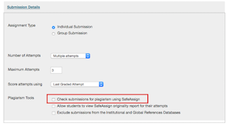 To use Safe Assign check the box under Plagiarism tools in the ...