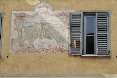 Sundial in Cherasco, Italy