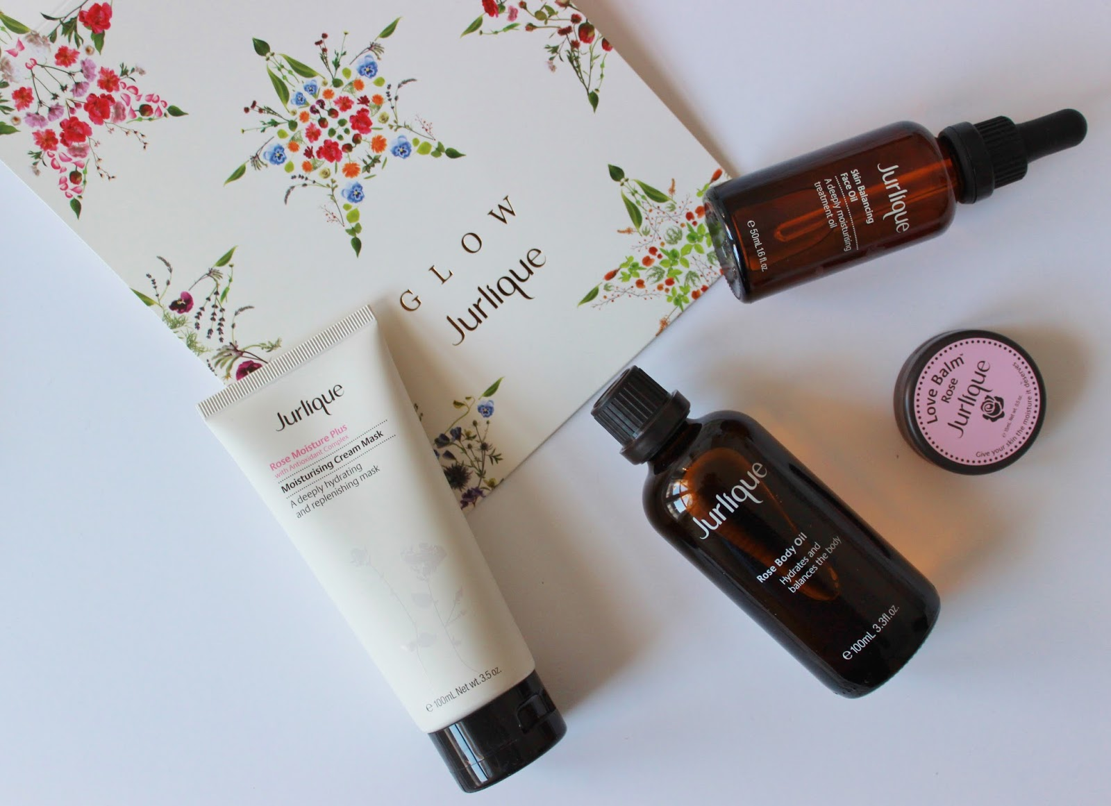 Jurlique 12 days of glow campaign rose skincare and body care products