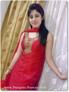 Beautiful Punjabi Girl In Red Suit